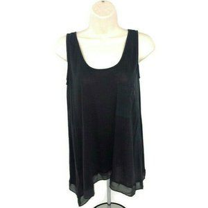 Philosophy Tank Top  Layered Look Gray Size XS